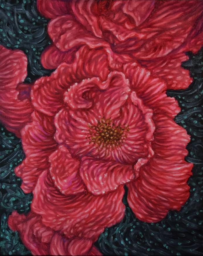 """Cosmic Dogrose"" original fine art by Lori Fredricks"