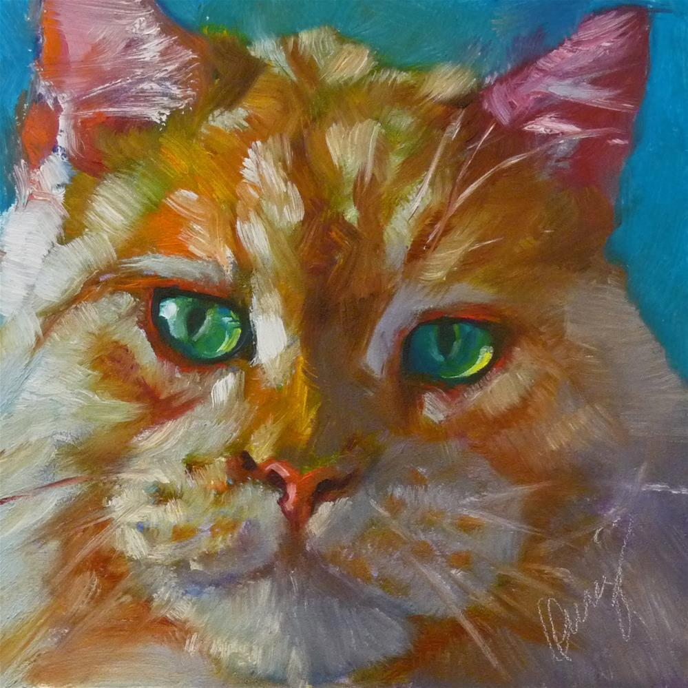 """Green Eyed Monster"" original fine art by Sharman Owings"