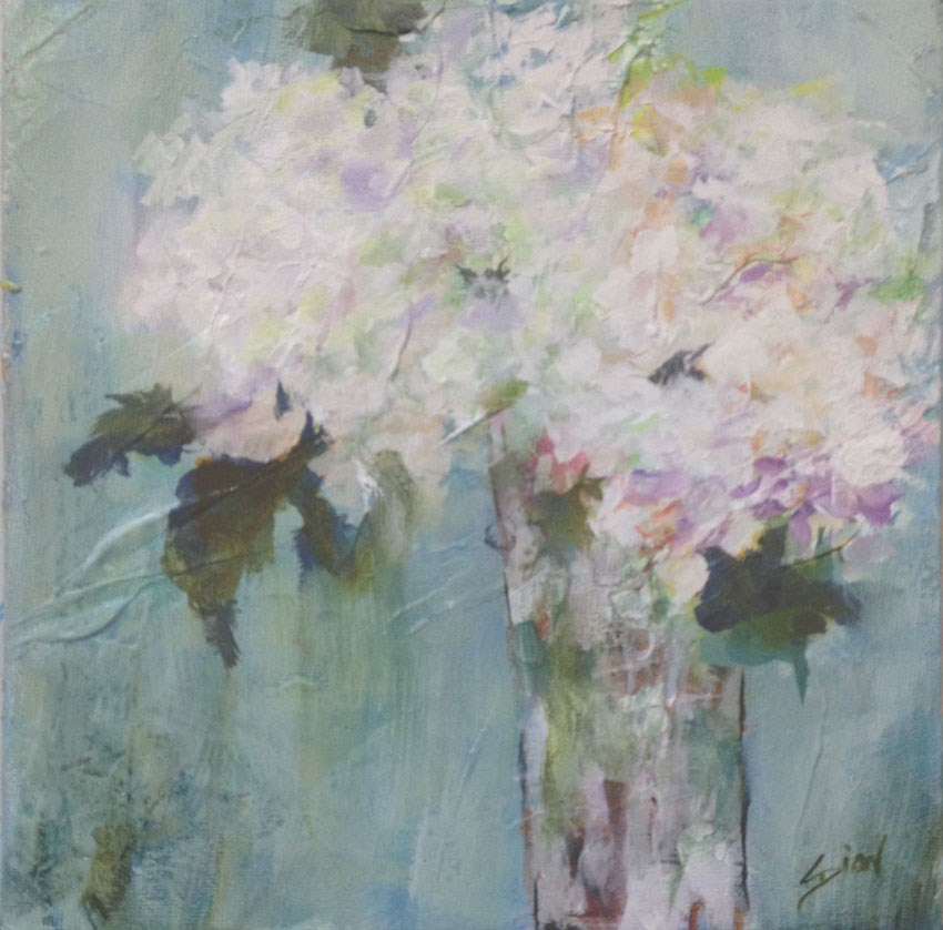 """Hydrangea Blue"" original fine art by Sue Dion"