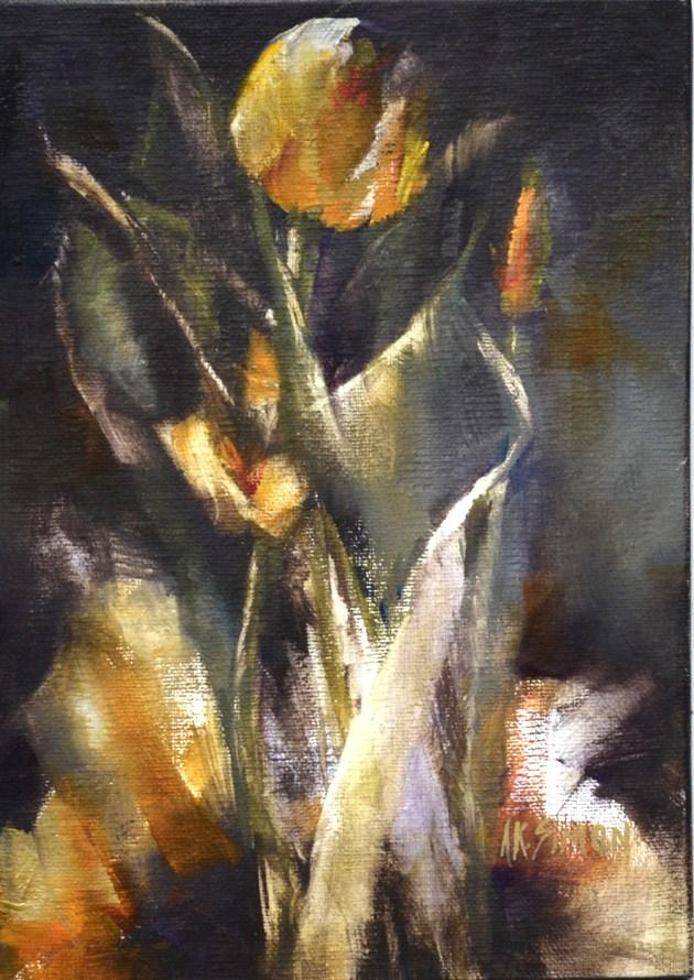 """Tulip Spirit"" original fine art by A.K. Simon"