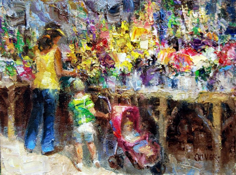 """Farmers Market #17"" original fine art by Julie Ford Oliver"