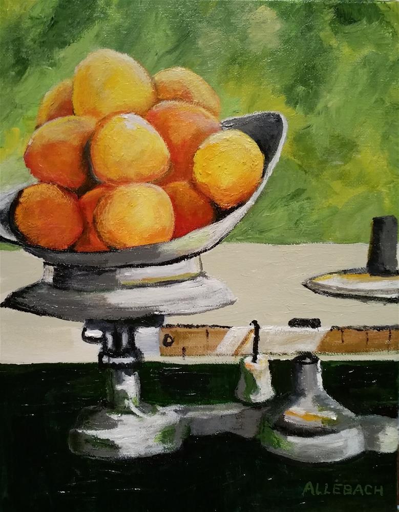 """""""Peaches"""" original fine art by Jo Allebach"""