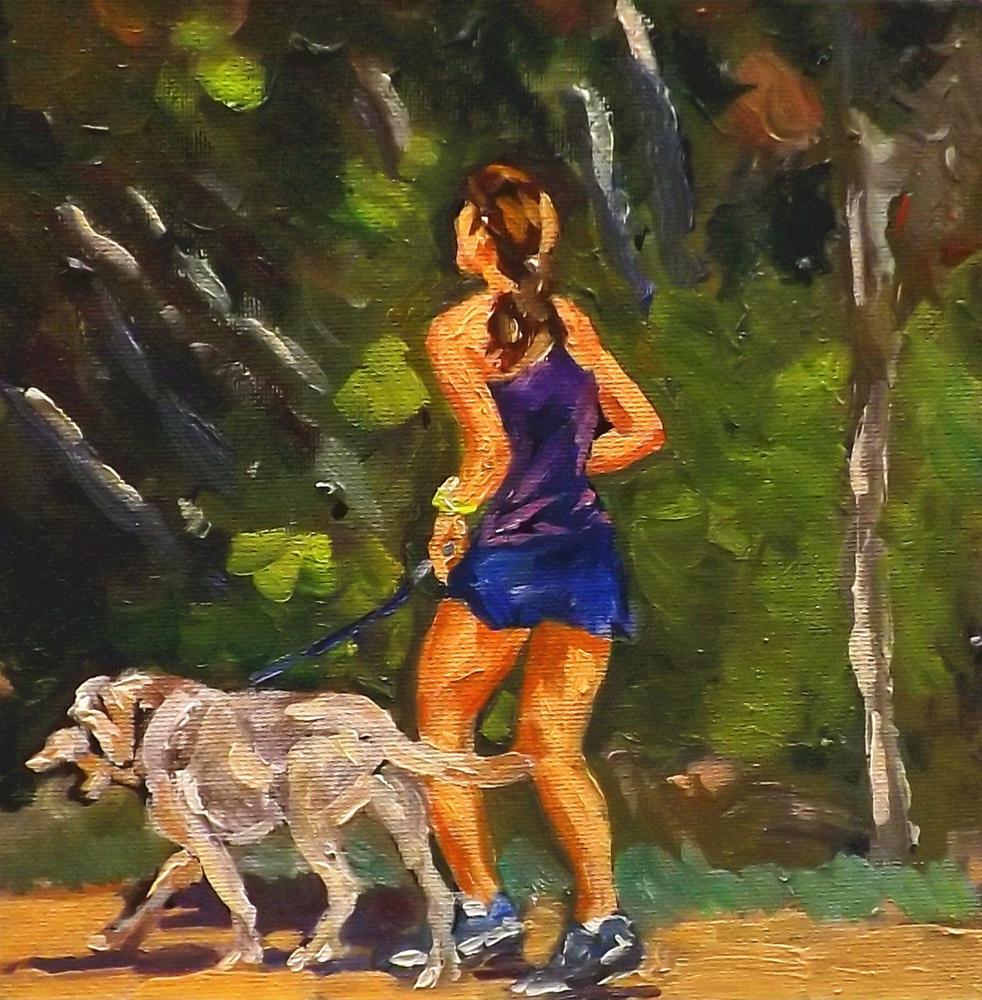 """Jogging#3"" original fine art by Run-      Zhang Zane"