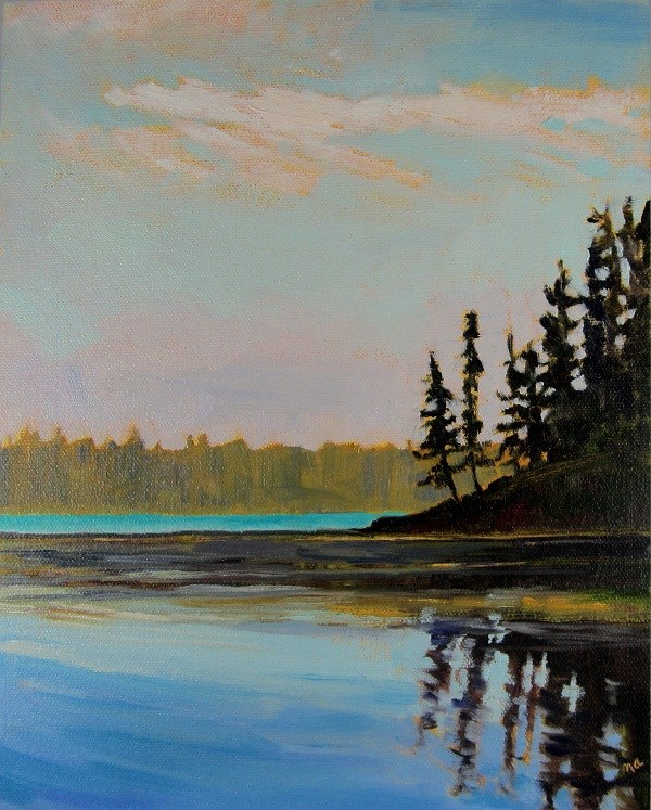 """Heart Lake"" original fine art by Nicki Ault"