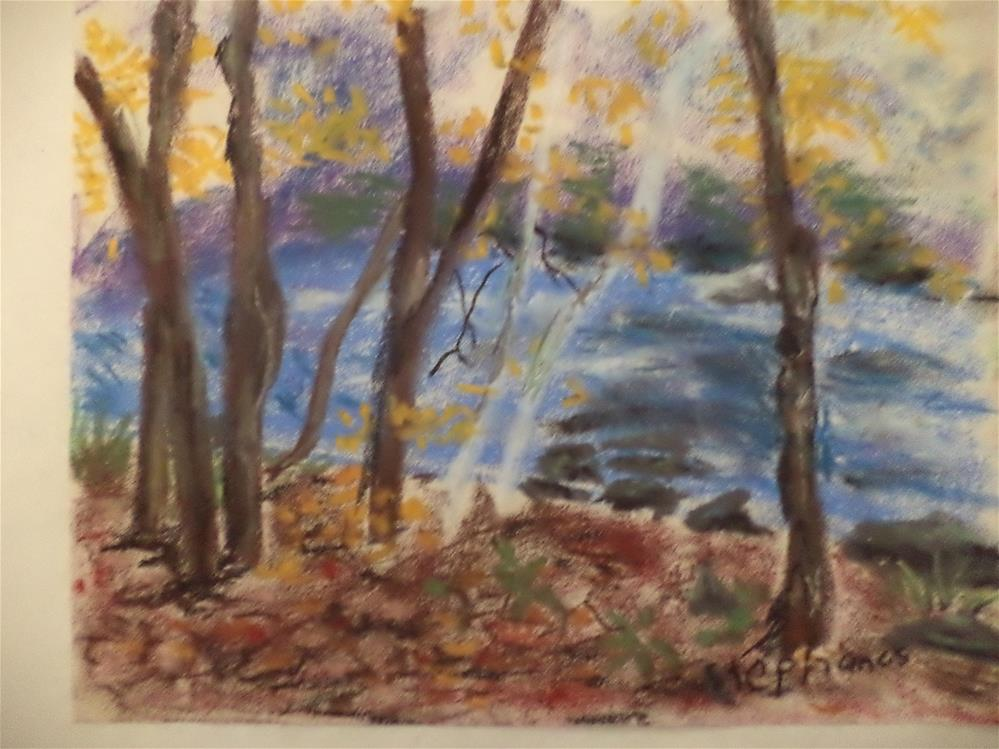 """Fall landscape "" original fine art by tara stephanos"