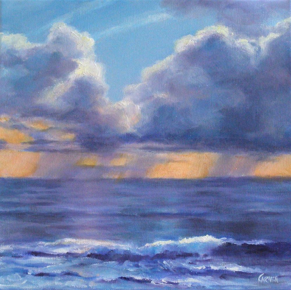 """Morning Sunrise, 10x10 Oil on Canvas"" original fine art by Carmen Beecher"