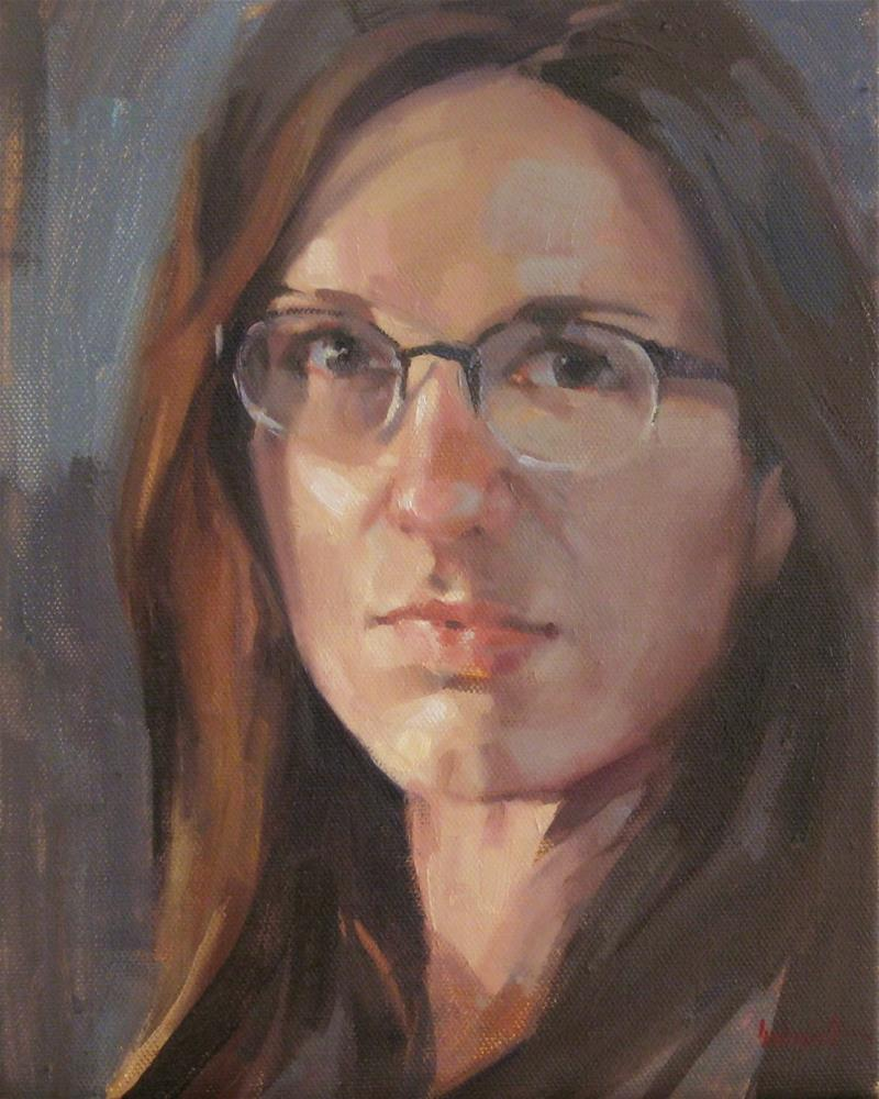 """Self Portrait Sketch no. 1"" original fine art by Sarah Sedwick"