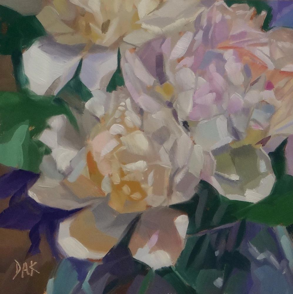 """Peony Bouquet"" original fine art by Deborah Ann Kirkeeide"