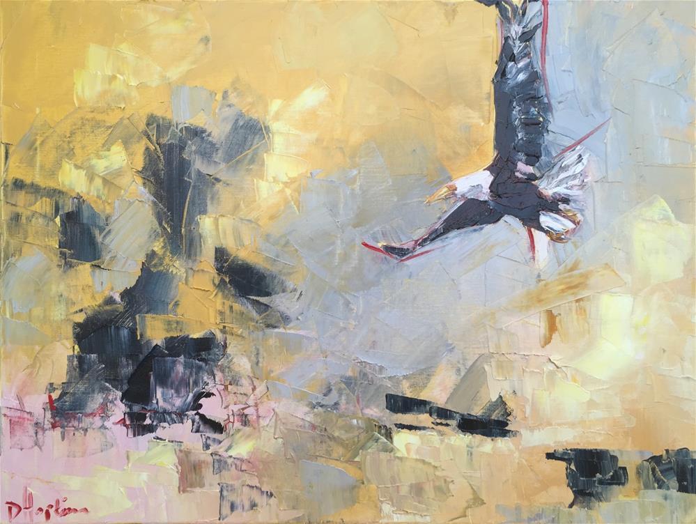 """On Eagle's Wings"" original fine art by Denise Hopkins"