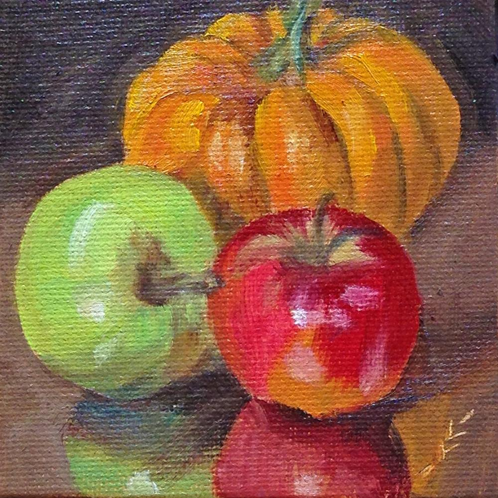 """Seasonal Fruit"" original fine art by Linda Lowery"