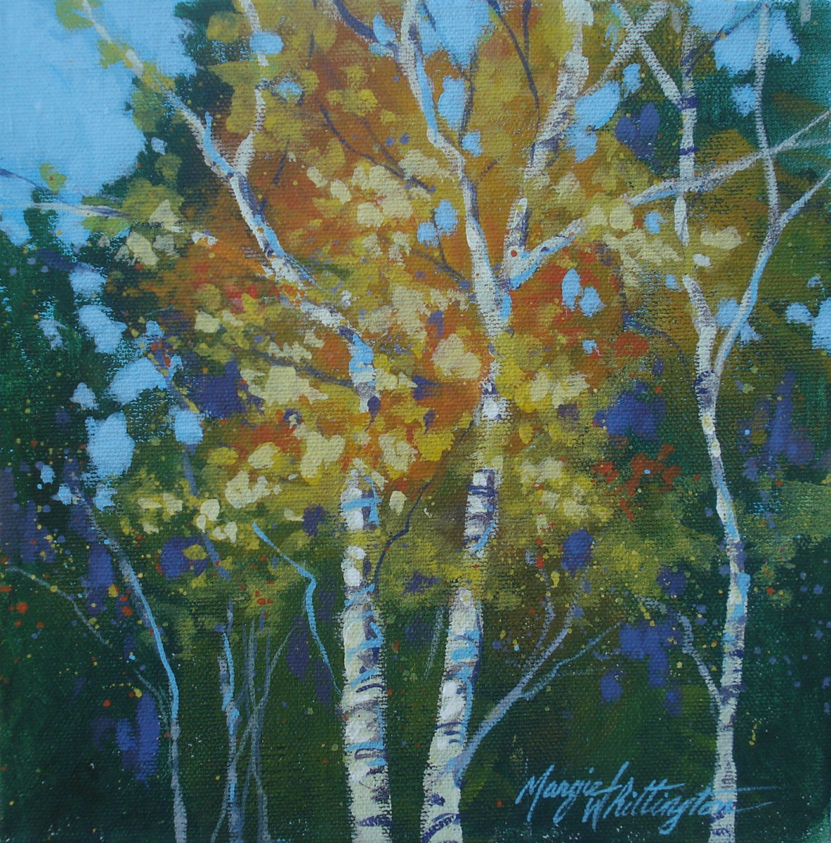 """Tyiptych, Aspens 3"" original fine art by Margie Whittington"