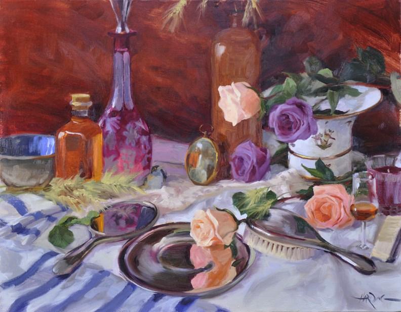 """Rose Interlude"" original fine art by Scott Harding"