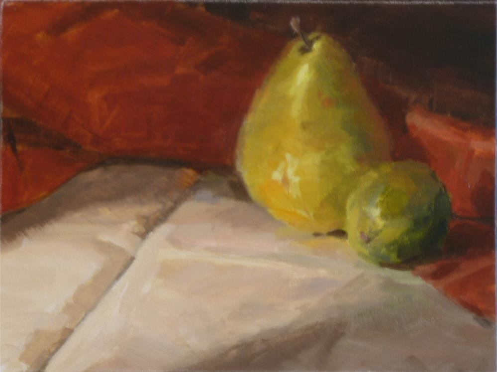 """Pear & Lime"" original fine art by Ron Ferkol"