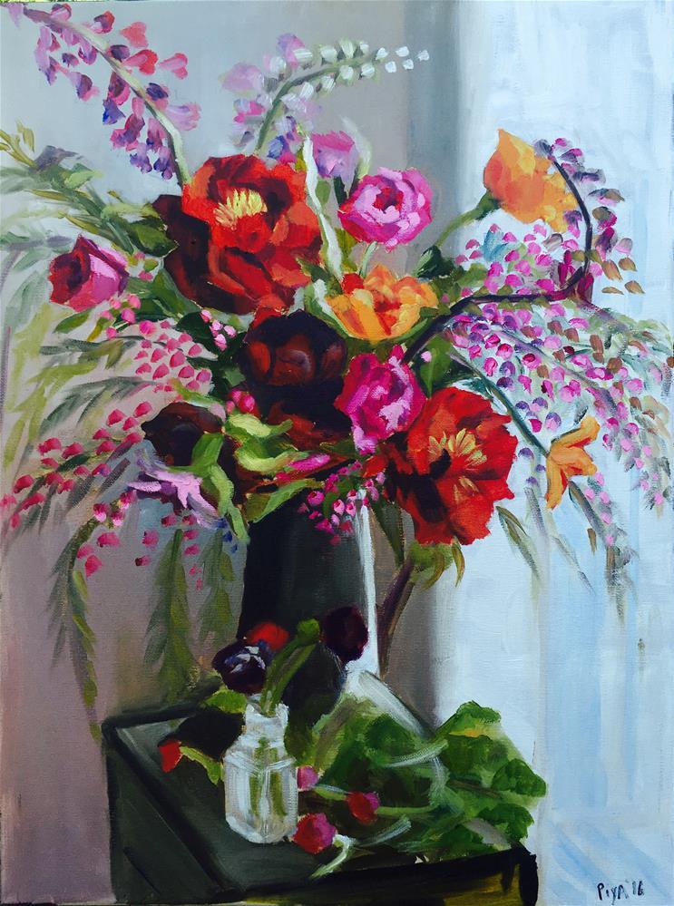 """Blossoms"" original fine art by Piya Samant"
