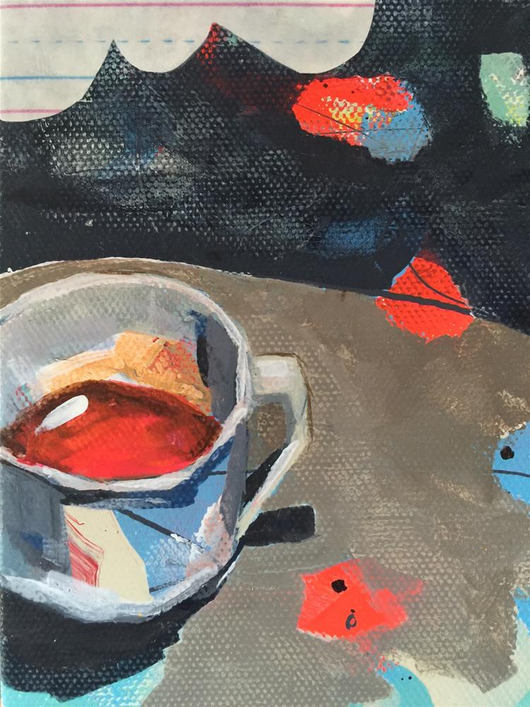 """205 First Cup"" original fine art by Jenny Doh"