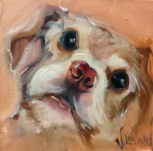 """Sweet Puppy"" original fine art by Nancy Levinson"