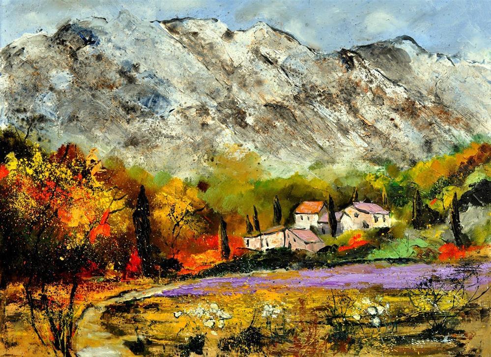 """Provence 1082180"" original fine art by Pol Ledent"