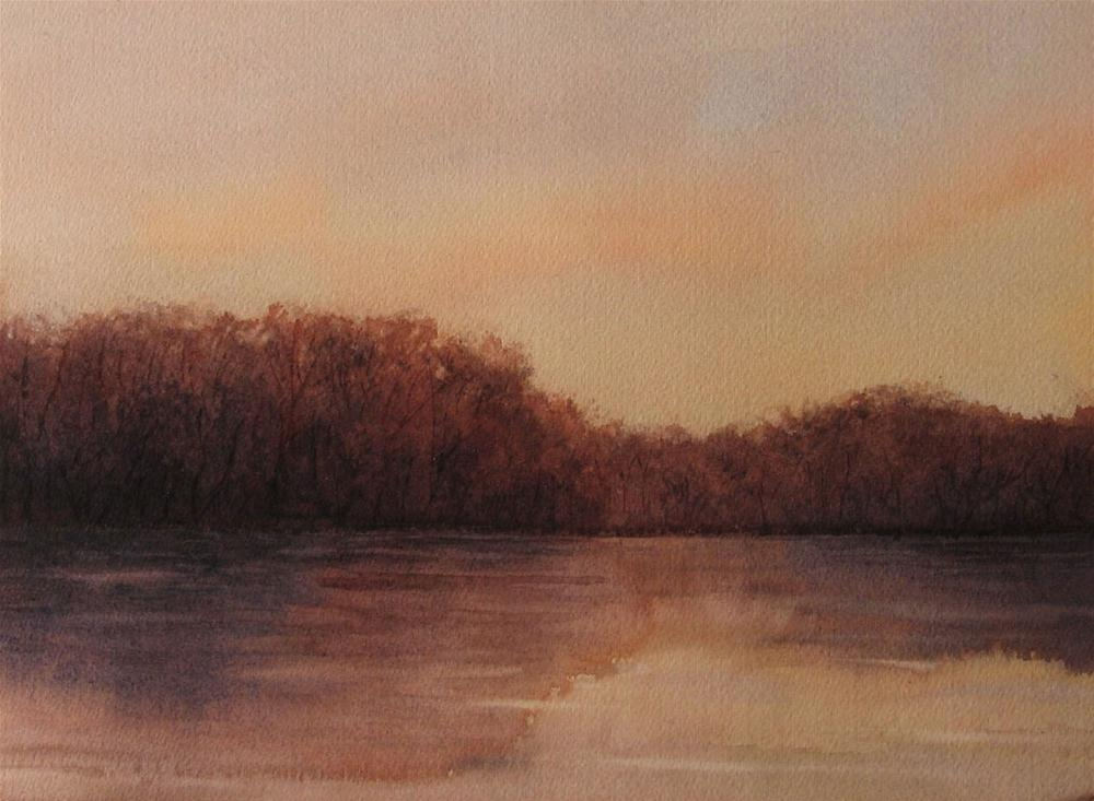 """Day's End"" original fine art by Vikki Bouffard"