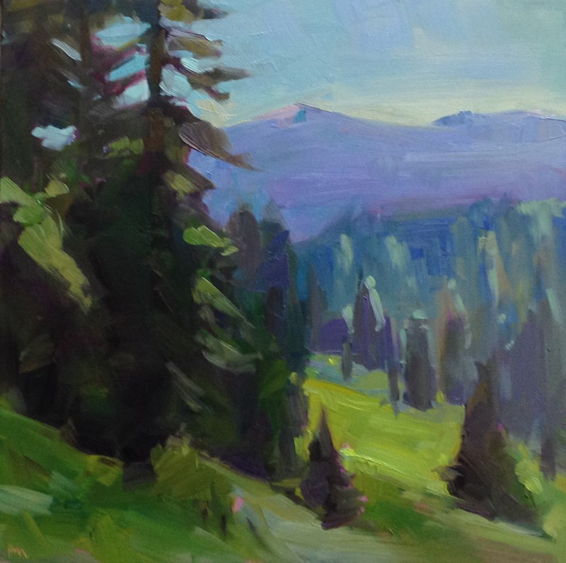 """Back to Browder Mountain"" original fine art by Patti McNutt"