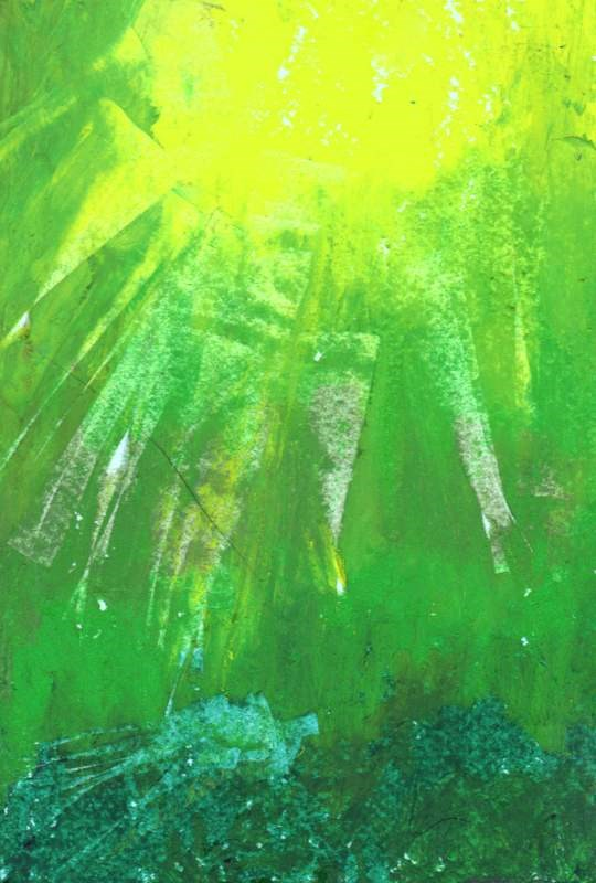 """Sunburst"" original fine art by Meredith Adler"