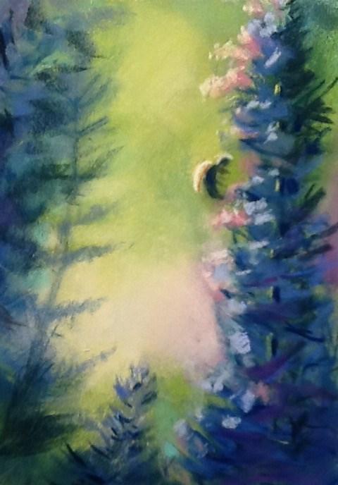 """""""Bee Still Detail #1"""" original fine art by Judy Albright"""