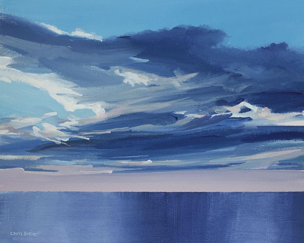 """""""Clouds Over Lake Ontario"""" original fine art by Chris  Breier"""