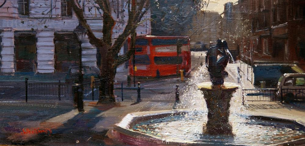 """Sloane Square, back light effect"" original fine art by Adebanji Alade"