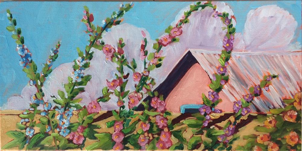 """Playful Hollies"" original fine art by Robyn Wellman"
