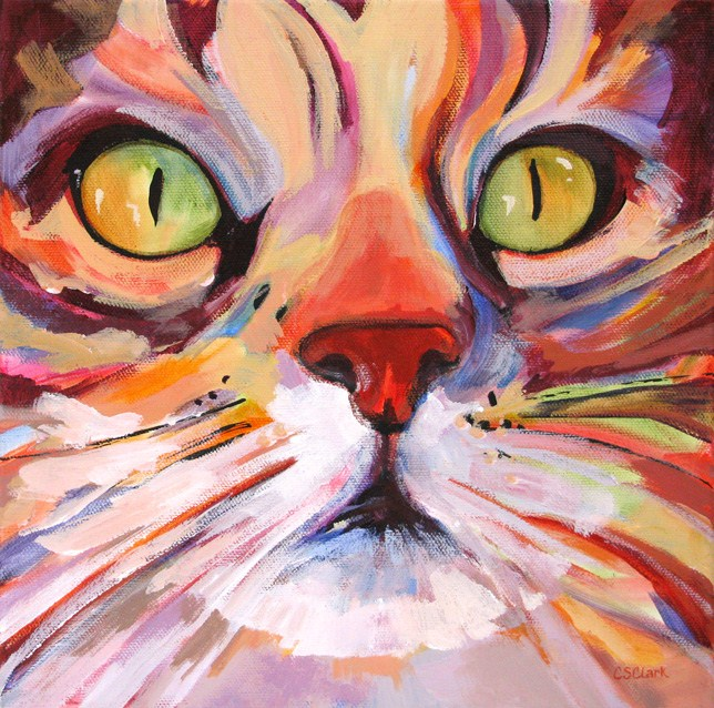 """Intensely Curious"" original fine art by Carolee Clark"