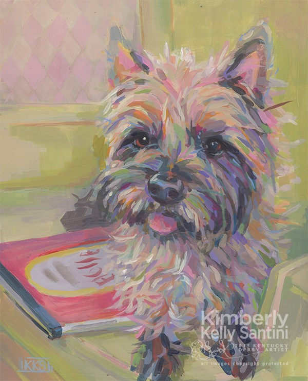"""Waiting for Eloise"" original fine art by Kimberly Santini"