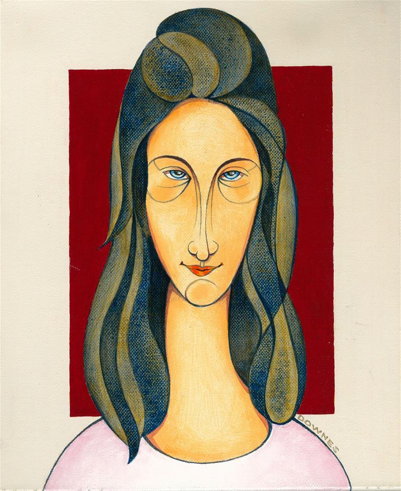 """143 MOD GIRL 2"" original fine art by Trevor Downes"