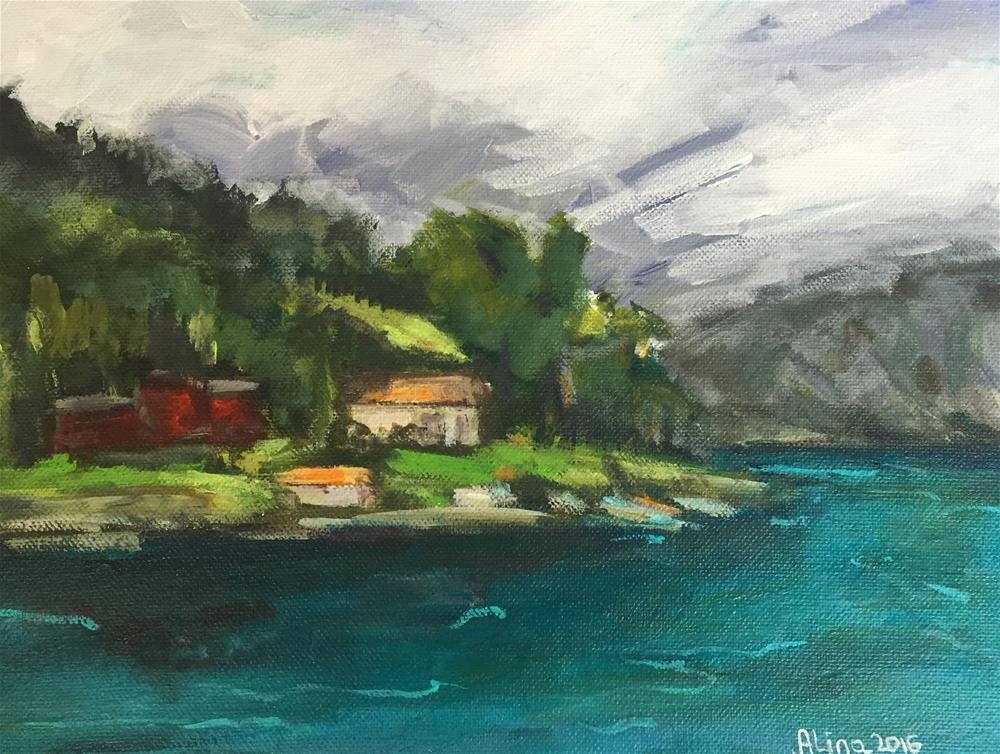"""View in Norway"" original fine art by Alina Vidulescu"