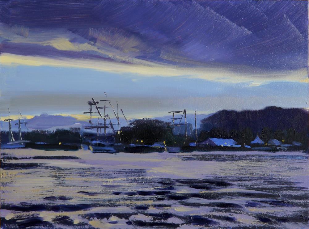 """Rouen river"" original fine art by Beata Musial-Tomaszewska"