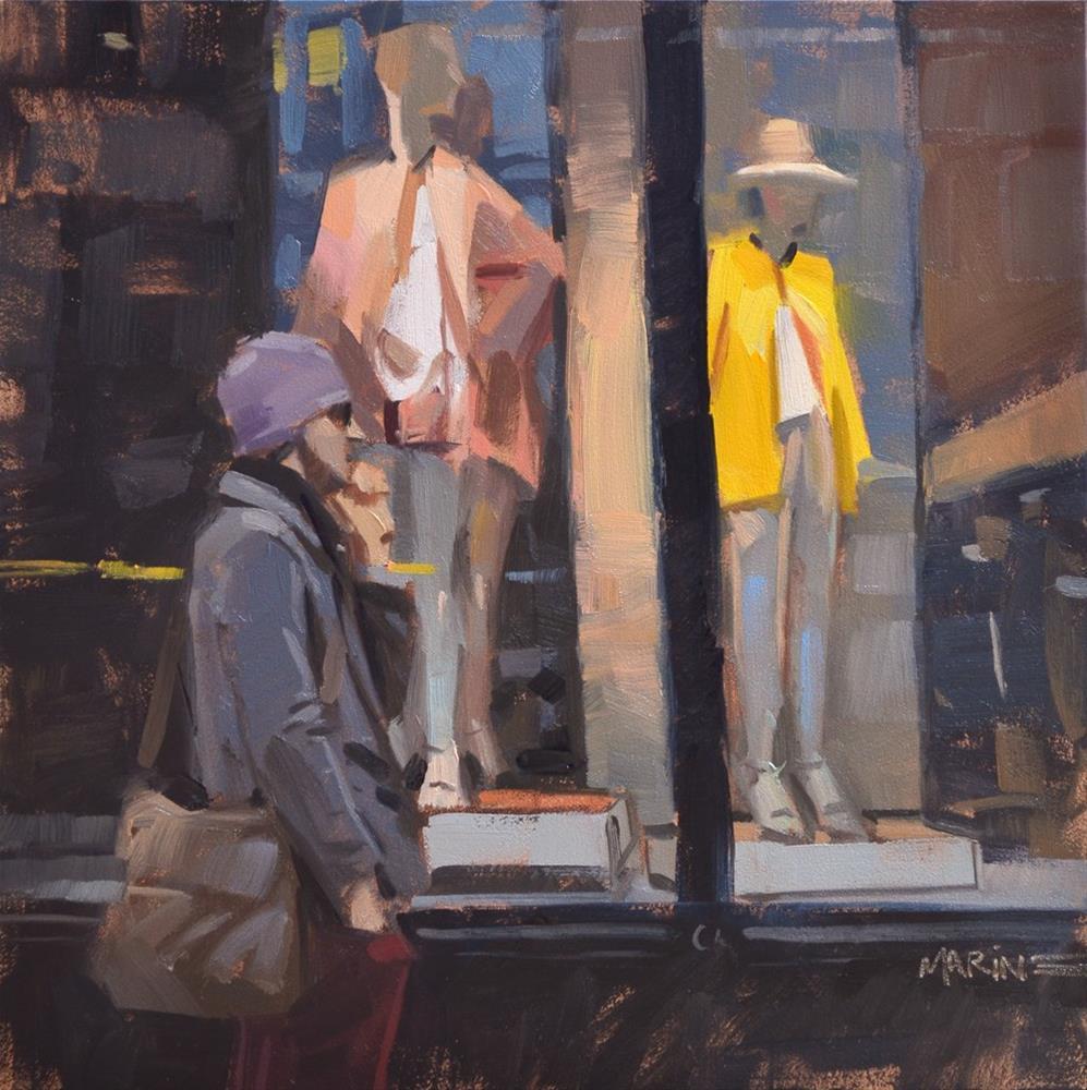 """Fashion Awaits You"" original fine art by Carol Marine"