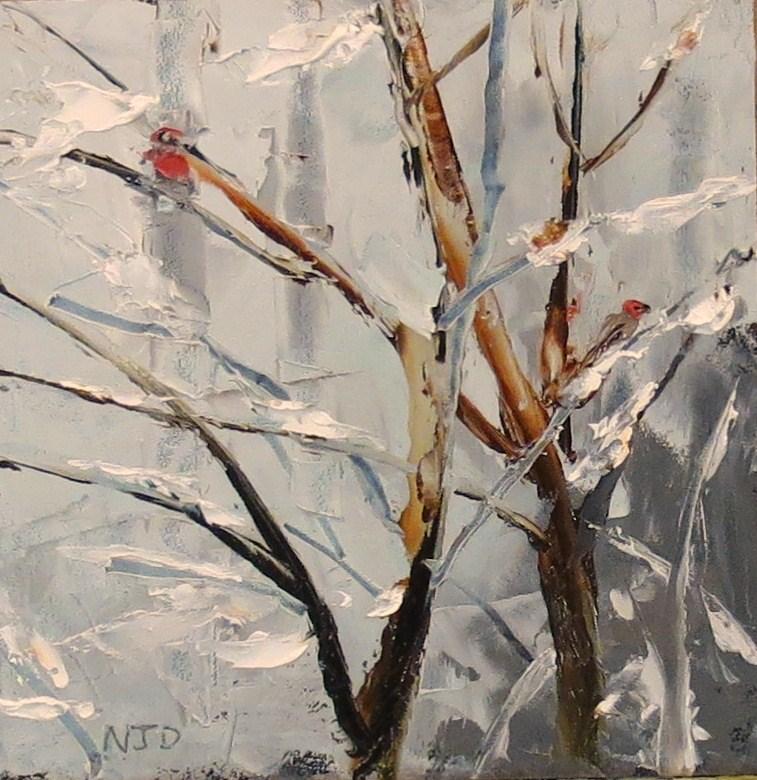 """""""Winter Roost"""" original fine art by Nancy Darling"""