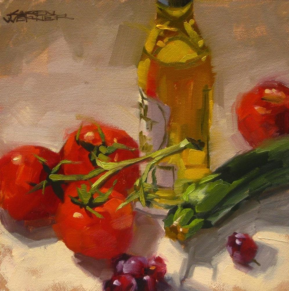 """""""Mediterranean Diet"""" original fine art by Karen Werner"""