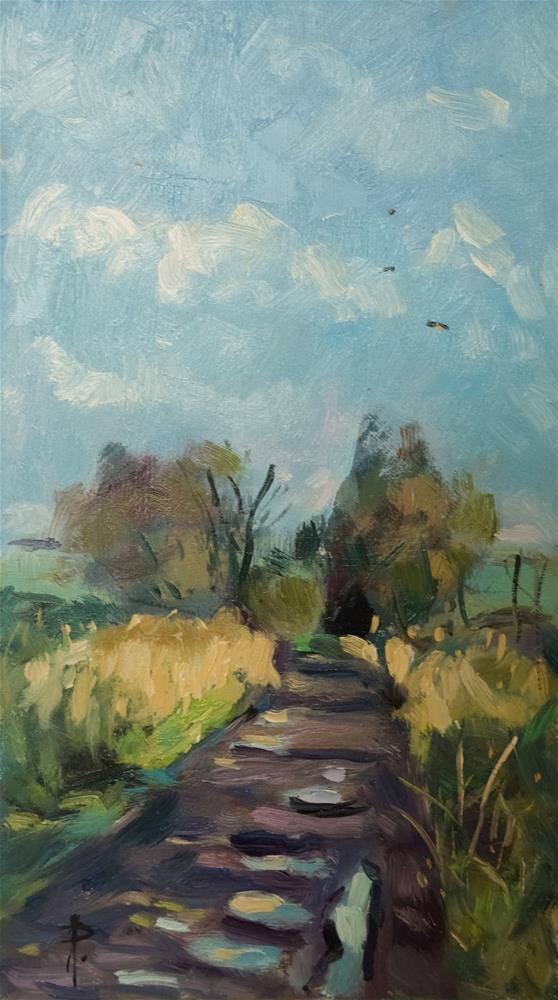 """Puddles on Pathway"" original fine art by Andre Pallat"
