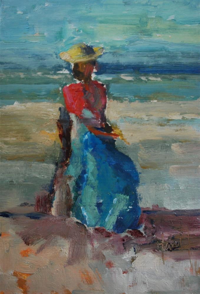 """Waiting Game"" original fine art by Deborah Harold"