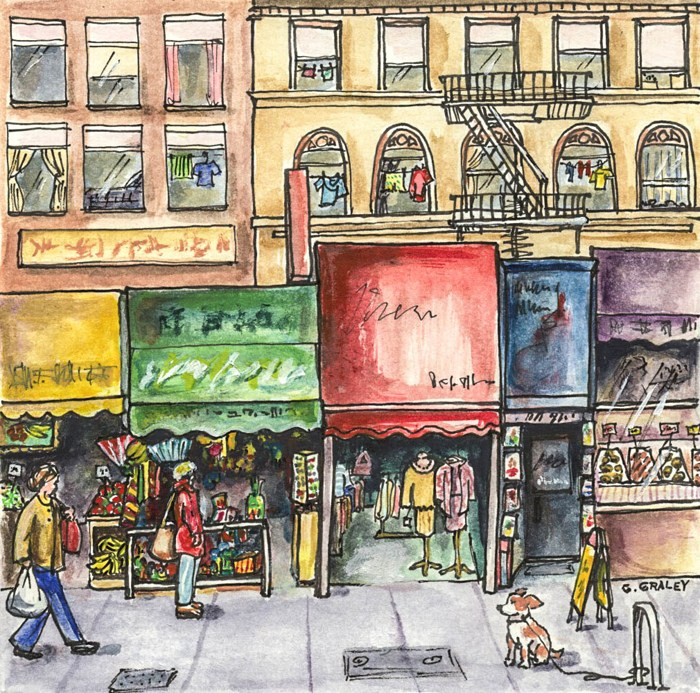 """Stockton Street, San Francisco"" original fine art by Geri Graley"