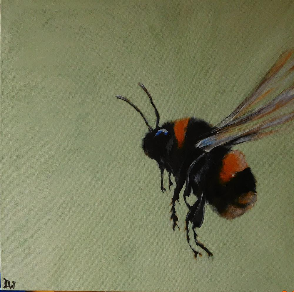 """B is for Bee"" original fine art by Daryl West"