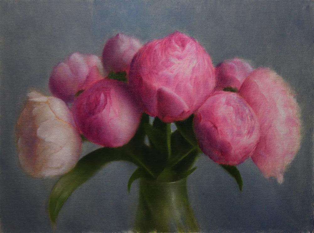 """Pink Peonies"" original fine art by Jonathan Aller"
