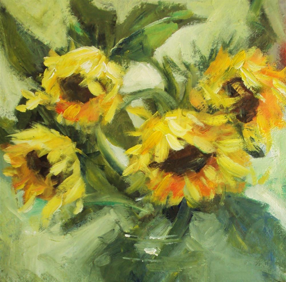 """sunflowers"" original fine art by Parastoo Ganjei"