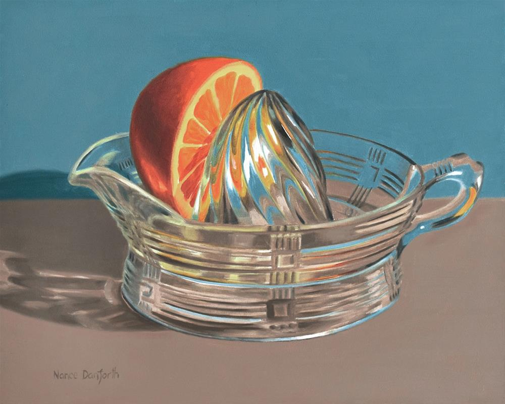 """Orange Juicer"" original fine art by Nance Danforth"