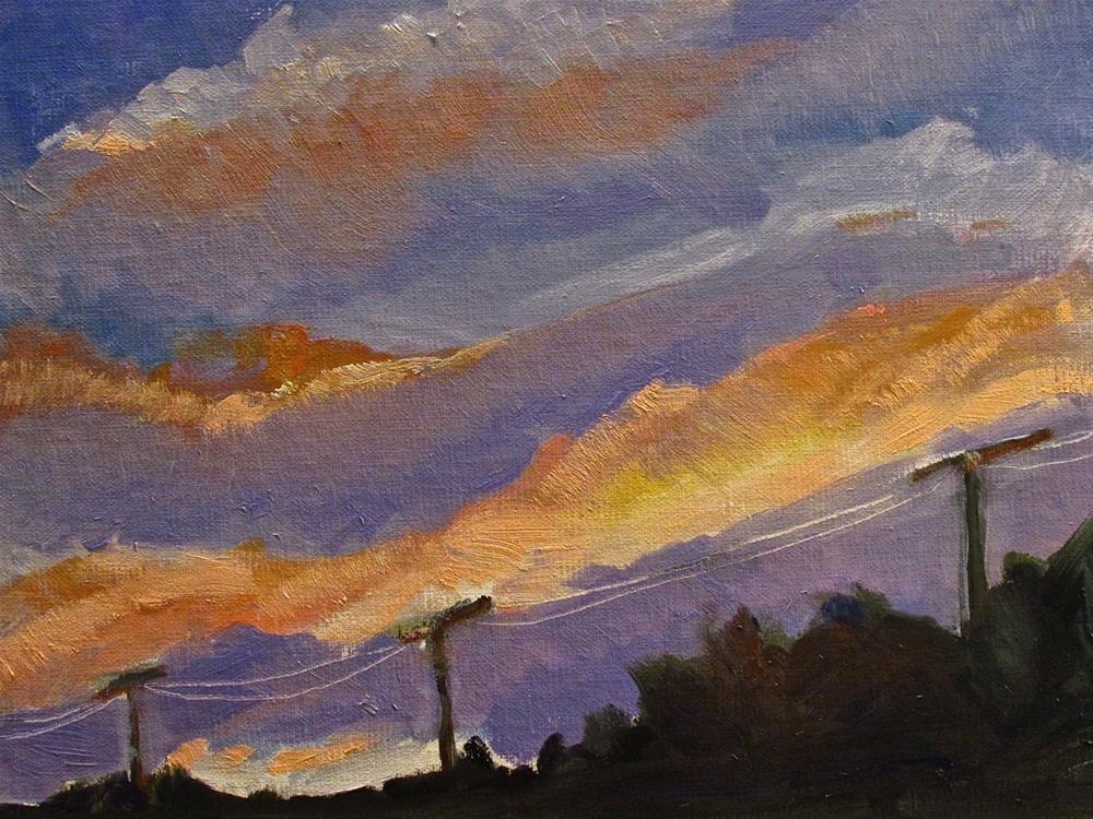 """Hartford Dusk"" original fine art by Aurelio Saiz"