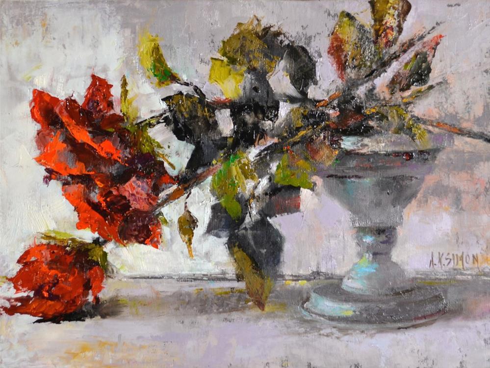 """Fallen From Grace"" original fine art by A.K. Simon"