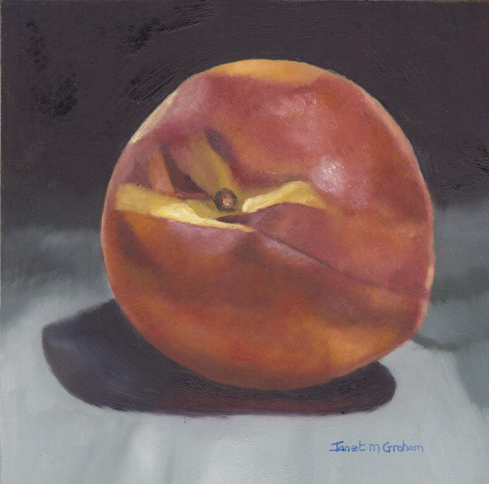 """Peach"" original fine art by Janet Graham"