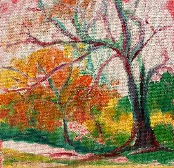 """Park Trees 19 original landscape oil painting"" original fine art by Pam Van Londen"