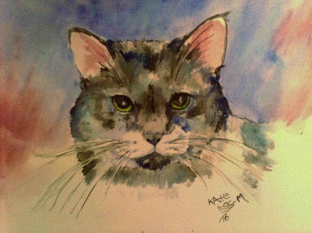 """watercolor practice"" original fine art by Kate Less-Madsen"
