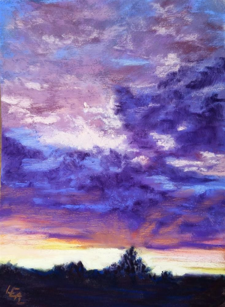 """Big's Utah Sky #1"" original fine art by Anna Lisa Leal"