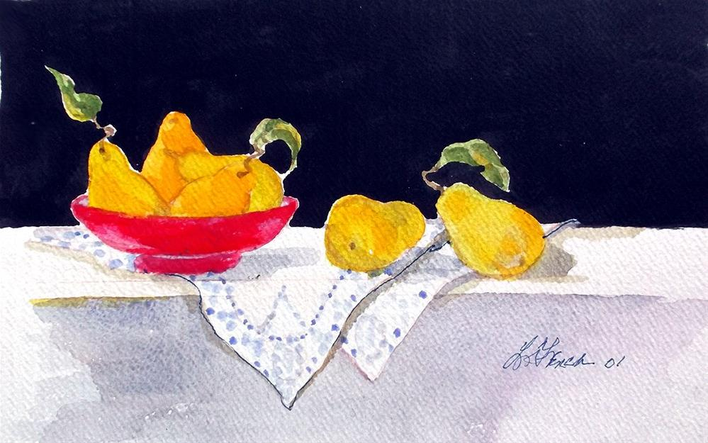 """Orchard Pears"" original fine art by lynne french"